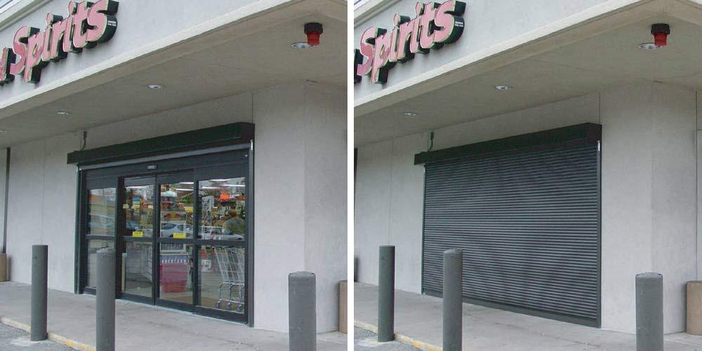 rolling doors store front